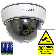 Top Quality Fake Dummy Dome CCTV Security Camera Flashing LED Outdoor New White