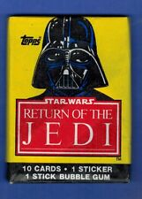 STAR WARS RETURN OF THE JEDI UNOPENED CARD STICKER PACK SERIES 1 TOPPS 1983