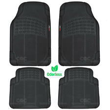 Motor Trend Car Floor Mats Heavy Duty Rubber Eco Friendly in Black Odorless