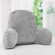 Grey Lounger Bed Rest Back Pillow Support Arm Stable TV Backrest Seat Cushion