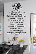 The Lord's Prayer Kitchen Wall Sticker Wall Art Vinyl Decals Religious Wall Art
