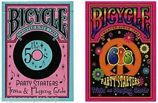 Decades Party Starters 50s & 60s 2 Deck Set Bicycle Playing Cards Poker Trivia