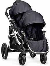 2016 Baby Jogger City Select Twin Tandem Double Stroller Titanium w Second Seat