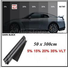 50cmx3m 15% VLT Pro Car Auto Home Glass Window Tint Tinting Film Black Roll