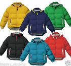 Kids Padded Jacket Quilted Coat Boys Girls Age 7 - 13 Hooded Winter Warm