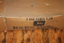 John Deere 2 Bag Power Flow Bagger BM17322 for RX, SX, SRX, GX, LX series-Part #