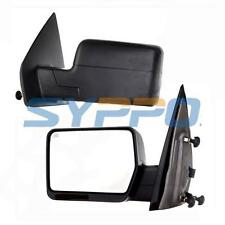 LH RH For 04-07 Ford F150 Pickup Towing Power Heated Side View Mirrors Set Black
