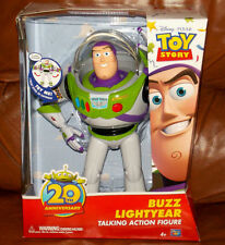 """Disney Toy Story Buzz Lightyear 12"""" Talking Action Figure Doll 20th Anniversary"""