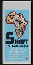 LOCANDINA, SHAFT E I MERCANTI DI SCHIAVI Shaft in Africa BLAXPLOITATION POSTER