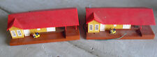 Lot of 2 Vintage 1980s HO Scale Bachmann Grovemont Train Station Buildings LOOK