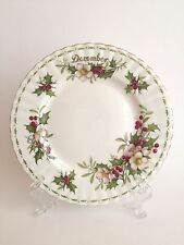 Royal Albert Bone China Flower of the Month December Rose Salad Plate England