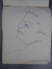 Autographes Marais [Cocteau] Cocatrix Murray Perier Paris années 50 Livre d'or