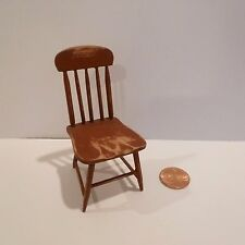 LOVELY MINIATURE CHAIR  RUSTIC RED FINISH WORN   SIGNED CD