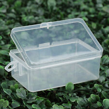 Plastic Clear Transparent With Lid Collection Container Case Storage Small Box