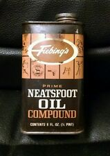 Vintage Fiebing's Neatsfoot Oil Compound Advertising Tin