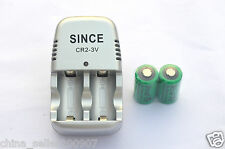 SINCE SE-CR2 CR2 3V Charger + 2X Ultrafire 15270 CR2 800MA Rechargeable Battery