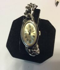 Rare Sheffield ladies mechanical watch with bold link bracelet, overwound   L494