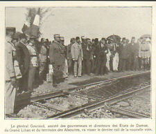 SYRIE SYRIA REFECTION VOIE FERREE HOMS TRIPOLI GENERAL GOURAUD IMAGE 1921