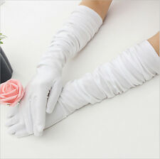 Long Satin Gloves Opera Wedding Bridal Evening Party Costume Colorful Gloves HF
