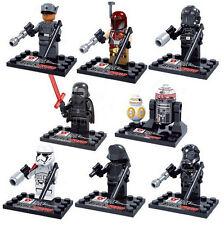Star Wars Awaken BB-8 R5-D4 Kylo Ren Stormtrooper 8 Mini Figures Fits with Lego