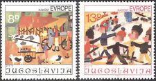 Yugoslavia 1981 Niños Arte/Bicicleta/Bicicleta/ganado/Esquí/Sport 2v Set (n26884)