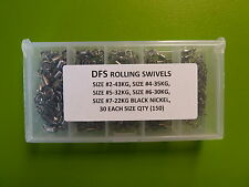 BOXED 150 DFS Quality ROLLING FISHING SWIVELS SIZE size 2, 4, 5, 6, 7 tackle