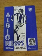 24/01/1976 West Bromwich Albion v Lincoln United [FA Cup] (creased). This item h