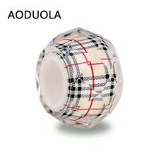 5 X Resin Bead Fits European Bracelet Burberry Colour
