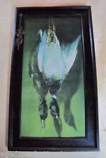 Old Game Bird Frame and Print unique raised wood frame dead birds with art print