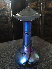Art Nouveau Iridescent Jack In The Pulpit Glass Vase