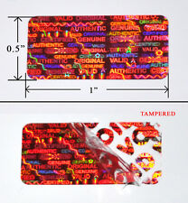 """250 Security Labels Seal Red Hologram Tamper Evident 1"""" x 0.5"""" Stickers xbox ps3"""