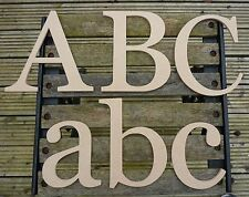 WOODEN ALPHABET LETTERS    8 inch           ( e style )