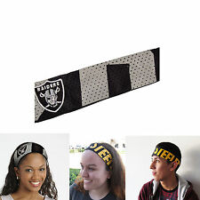 New NFL Oakland Raiders Fanband Jersey Headband Head-Band by Little Earth