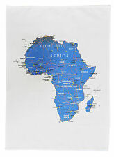 Countries of Africa with borders, main cities and roads - Large Cotton Tea Towel
