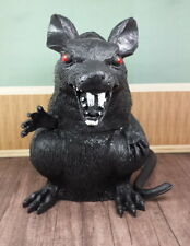 Black Plastic Giant Rat  - Halloween Decoration - 7 inches tall - New