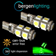 2X W5W T10 501 CANBUS ERROR FREE GREEN 9 LED SIDELIGHT SIDE LIGHT BULBS SL101703