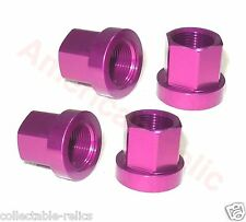 4X Flange Alloy Wheel Nuts Purple Old Vintage School BMX Track Bike Bicycle 3/8
