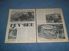 "1967 Covette Roadster Vintage Show Car Article ""Luv Bee"""