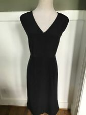 J Crew Dress 12 e9824 Sleeveless Silk Dress Black NWT $178