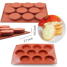 MINI Oval Silicone Mold Cookie Mould Chocolate Muffin Cupcake Bakeware Pan