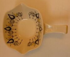 Stavangerflint Norway Art Pottery Flamingo range handled serving bowl