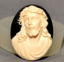JESUS CHRIST CAMEO SILICONE MOULD Cupcake polymer clay chocolate resin fimo mold