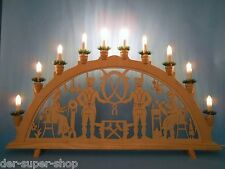 Schwibbogen Lichterbogen Fensterbeleuchtung Motiv Bergmann Klöpplerin Tradition