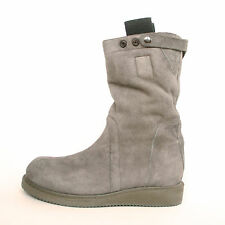 RICK OWENS $1,995 shearling lined Geobiker shoe leather military boots 11/44 NEW