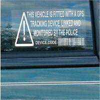 10 x Vehicle,Car,Van,Taxi,Minicab,Cab-GPS Security Stickers-Alarm Tracker Signs