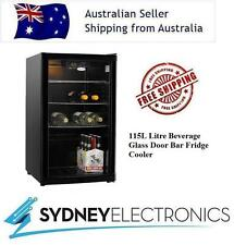 New Heller 115L Litre Beverage Glass Door Bar Fridge Cooler- HBC115B