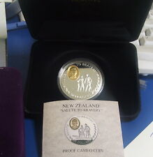 New Zealand 1995 Bravery  Silver Proof $20 coin