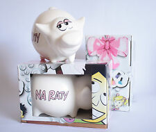 PIGGY BANK - SKARBONKA - NA RATY - MONEYBOX BIRTHDAY GIFT SAVINGS POLISH CUTE