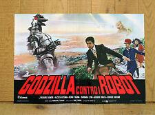 GODZILLA CONTRO I ROBOT fotobusta poster Fukuda Masaaki Daimon Sci Fi Mostri