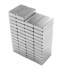 10 x 5 x 2 mm Neodymium Rare Earth Block Magnets N48 (50 Pack)